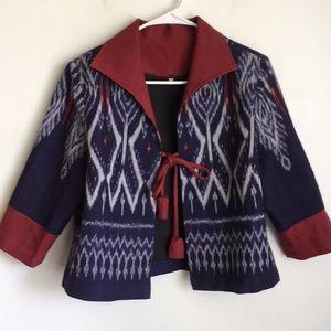 Euro Tribal Cape Jacket Aztec 40 M L